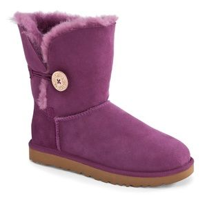 UGG Purple Bailey Button boots size 7